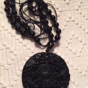 Obsidian dragon Pendant