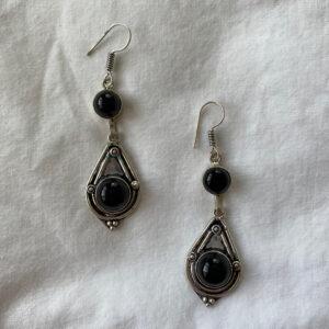 Onyx Earrings – Sterling Silver
